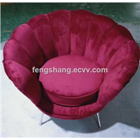 Modern Velvet Living Room Fabric Home Furniture Chair