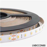 Built-in Constant Current IC 2835 LED Strip 80Leds/m High Efficiency 160lumen Per Watt