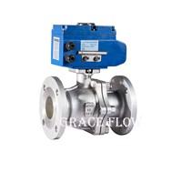 Floating Flange Ball Valve with 12v 24v 220v 380v Electric Actuator