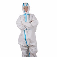 Breathable Anti-Ebola Virus 50g/M2 Microporous Type 5 6 Disposable Coverall