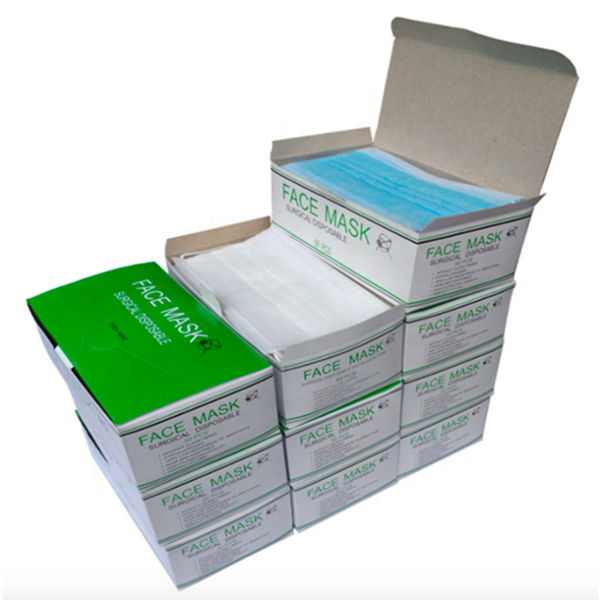 Custom Print Medical Disposable Face Surgical Mask Packaging Box Disposable Surgical Face Mask Paper Packing box