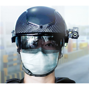 Smart Temperature Measuring Infrared Thermal AI Helmet Chinese police helmet coronavirus fight Fever Detection N901