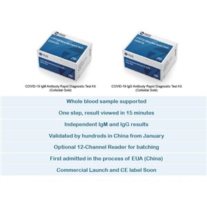 COVID-19 IgM & IgG Antibody Rapid Diagnostic Test Kit (Colloidal Gold) 1 Box/20 Piece Antibody Kit Rapid Test
