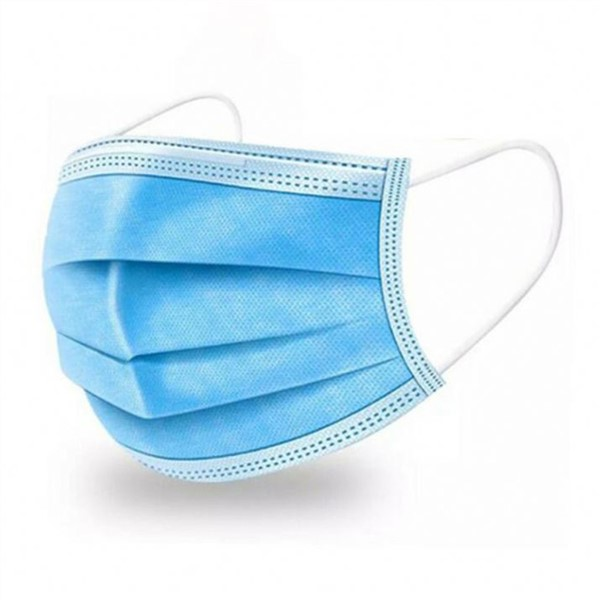 Disposable Blue Surgical Face Mask Earloop Non-Woven 3 PLY Medical Antiviral Flu Mask Comfortable Safety Sanitary