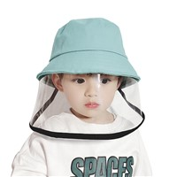 Kids Sun Hat with Isolation Mask Protective Hat Face Shield Fisherman with Facial Cover Full Face Safety for Children