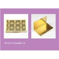 goldeen metal business card holder