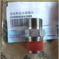 Air compressor outlet pipe joint