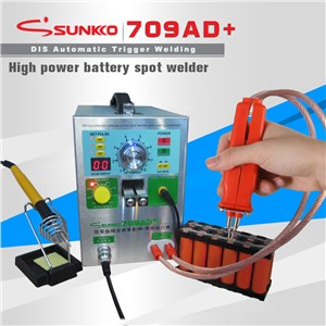 SUNKKO S709A Push Up Spot Welding + 70B Handheld Spot Welding Pen + Soldering 110V Portable Pulse Battery Welder Machine