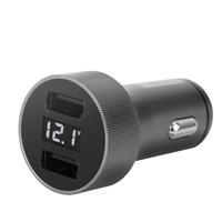 Deli Digital Display Car USB Charger, 3.6A(MAX), DL8052