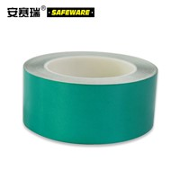 SAFEWARE, Reflective Warning Tape (Green) 5cm22m Engineering Grade Reflective Film, 14214