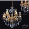 Crystal Chandelier with Glass Lampshade