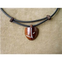 hand-made wooden necklace