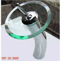 w001glass basin mixer faucet