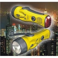 All Weather Dynamo Rechargeable Flashlight With FM