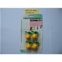 supply novelty plastic lemon tablecloth clips