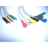 DIN Style 7-Lead Holter Lead wires
