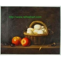still life oil painting on canvas