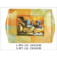 melamine 3pcs serving tray,handle tray