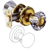 Tubular entrance lock W/Crystal knob
