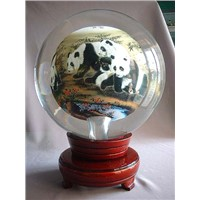 Inside painting glass globe,ball,crystal ball
