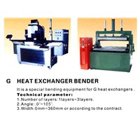 G HEAT EXCHANGER BENDER