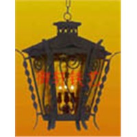 Iron skill outdoor lamp