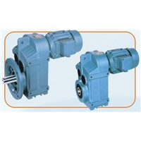 P series parallel shaft helical geared motor
