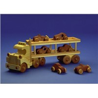 Car Carrier Wooden Toy