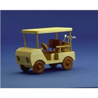 Wooden Toy Golf Cart