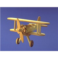 Wooden toy Steerman Biplane
