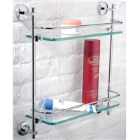 double level glass shelf-bathroom accessary