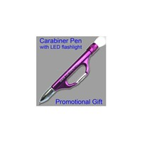 Carabiner Pen with LED Flashlight