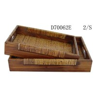Wooden and Rattan Plate(Wooden Products,Wooden Trays)