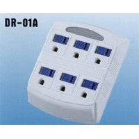 6 Outlet Wall Tap with Auto Night Light
