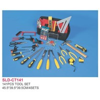 Sell 141pcs Tool Set in Bag-saw,Scissors,Glue Gun,Screwdriver,Chisel,Needle,Spanner,Plier,Wrench,M