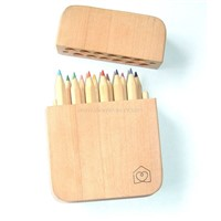 color pencil with fashion wooden box