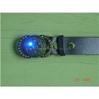 Pink,Blue,Grey, White Stone Buckle Belt with Disco Strobe Display