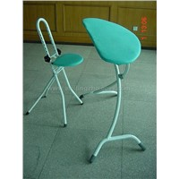 ironing board with chair