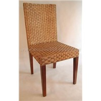 Wooden and Rattan Chair