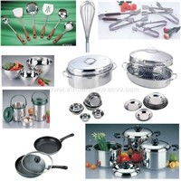 stainless steel kitchenware, cooker,clamp,tray,basin,pan,pot,bowl