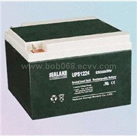 UPS1224 12V24Ah Nominal Capacity Rechargeable Sealed Lead-Acid Battery with International Approval