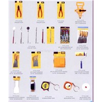 46 - pincer plier, measuring tape,