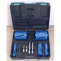 Diamond Core Drill Bit Kit in PLastic Case