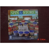 51pcs Revolving Storage Set