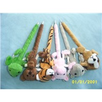 Stock plush animal ball pen