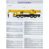 QY70K Truck Mounted Crane Payload 70 Ton