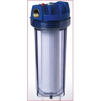 Single cartridge undersink water filter