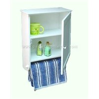 bathroom cabinet with towel holder