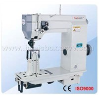Single Needle/Double Needle Postbed Sewing Machine with Wheelfeed, Needle Feed Aad Driven Roller P