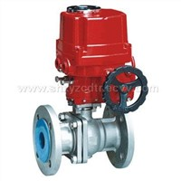 high platform electric operated ball valve